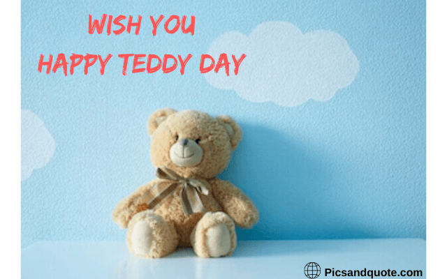 happy teddy day images pink colour